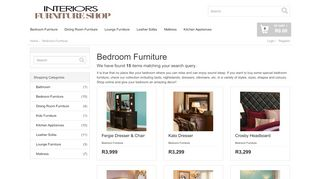 Interiors Bedroom Furniture